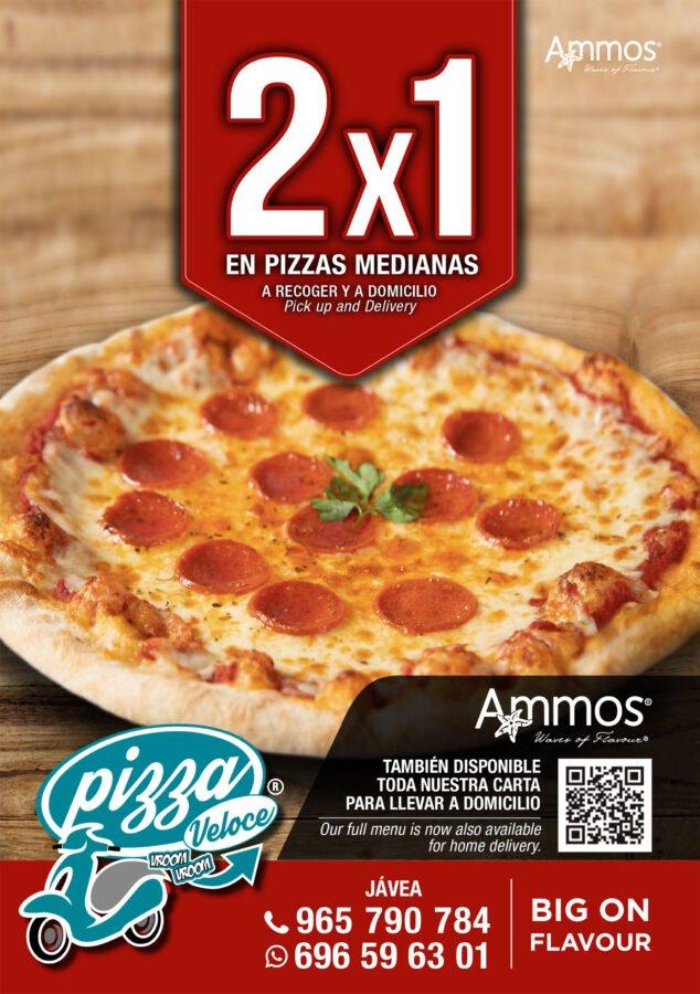 Imagen: Oferta de 2x1 en pizzas medianas en Jávea - Restaurante Ammos