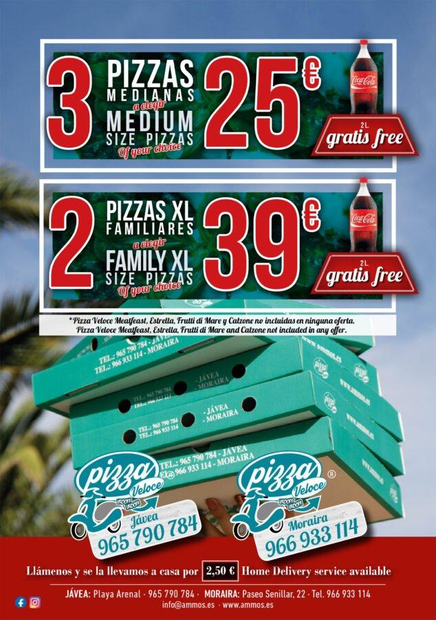 Imagen: Oferta de pizzas en Jávea - Restaurante Ammos