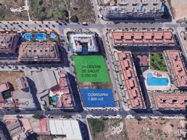 Imagen: Planos del proyecto de la comisaría y el centro de salud nuevos