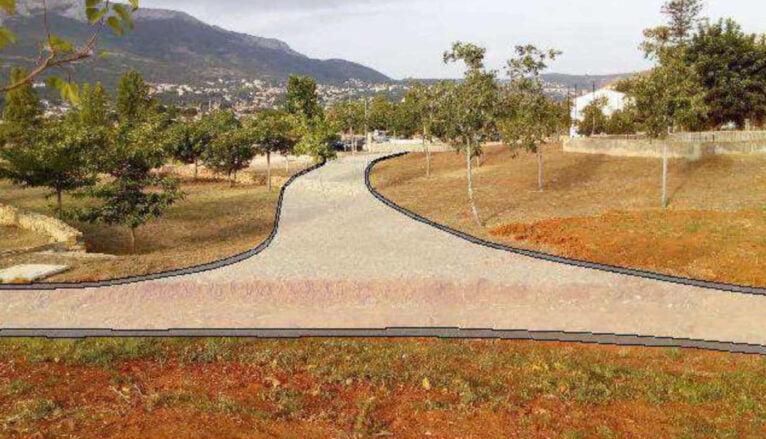 Recreación de las sendas que se construirán en el Bosc de Diana