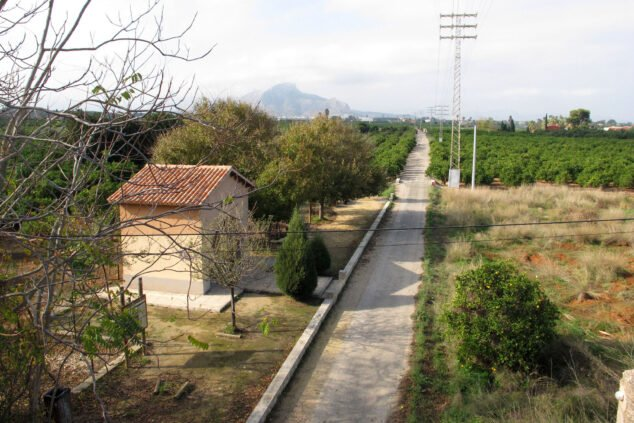 Image: The Greenway of Dénia from the top