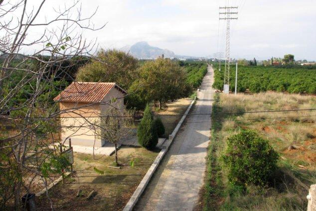 Imagen: La Vía Verde de Dénia desde lo alto