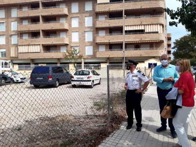 Imagen: Visita al terreno donde irá ubicada la nueva comisaría