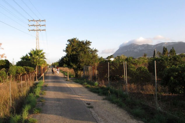 Image: Vue de la Via Verda de Dénia