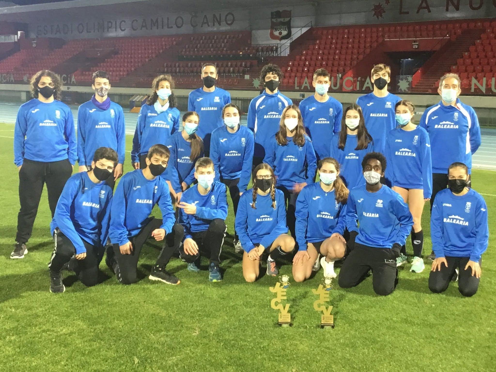 Cadets des champions provinciaux du CA Baleària Dianium
