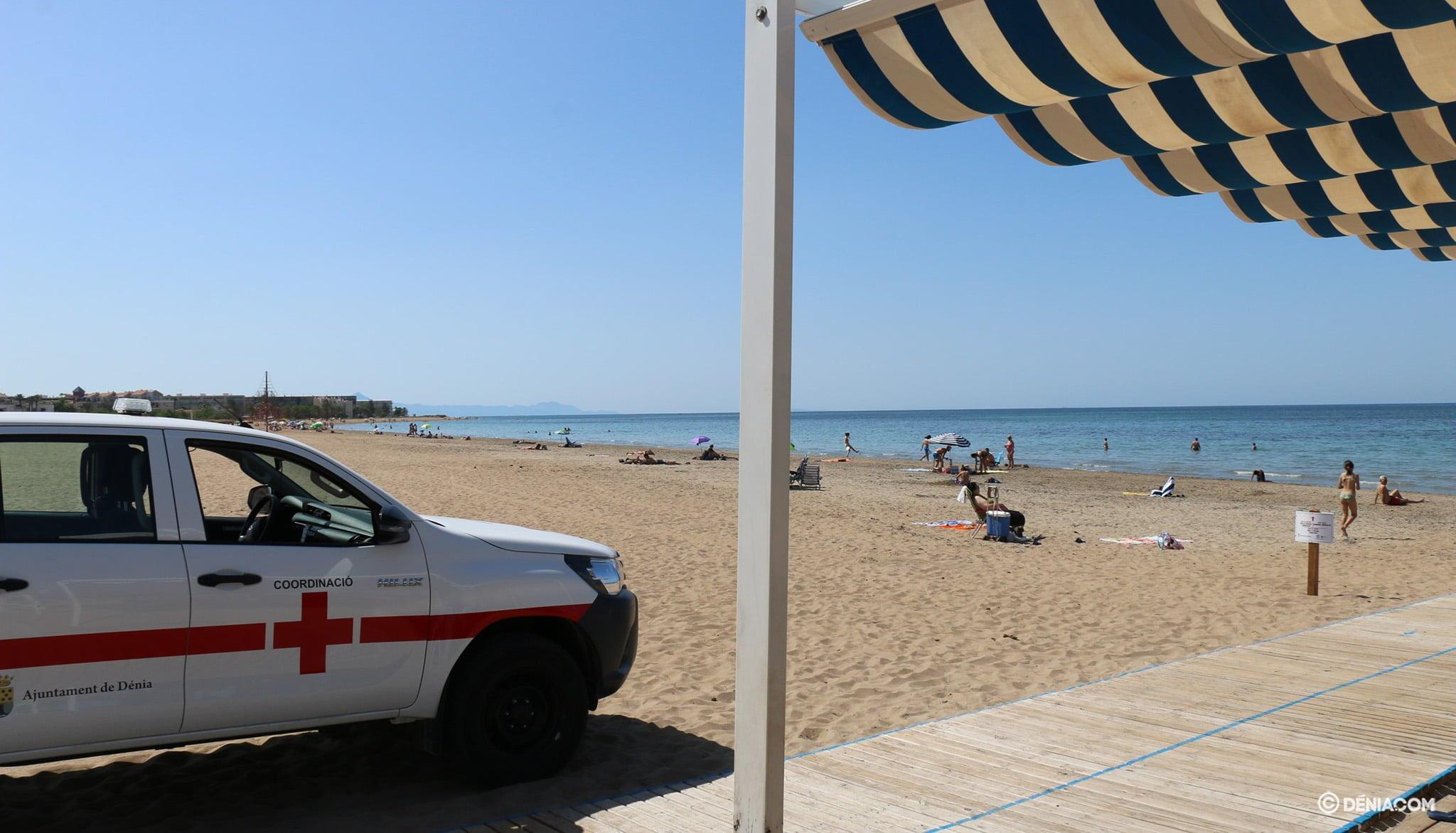 Cruz Roja Dénia en el servicio de playas