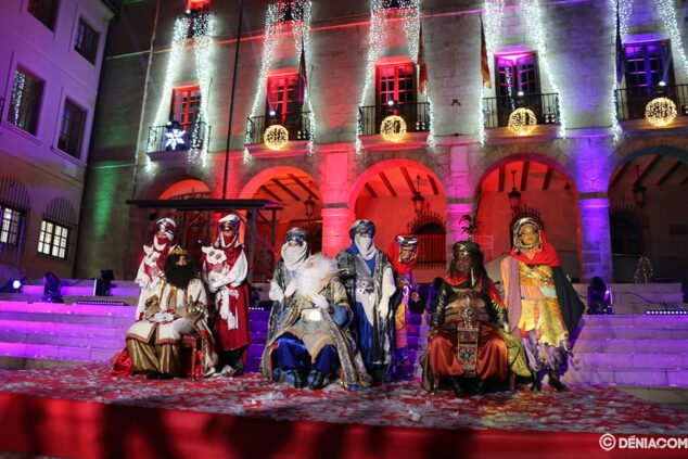 Imagen: Final de la cabalgata de los Reyes Magos de 2020