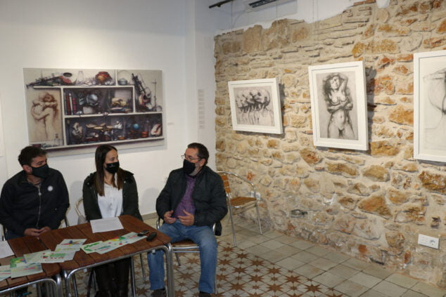 Image: Joan Castejón, together with Miquel Ivars and the councilor Melani Ivars
