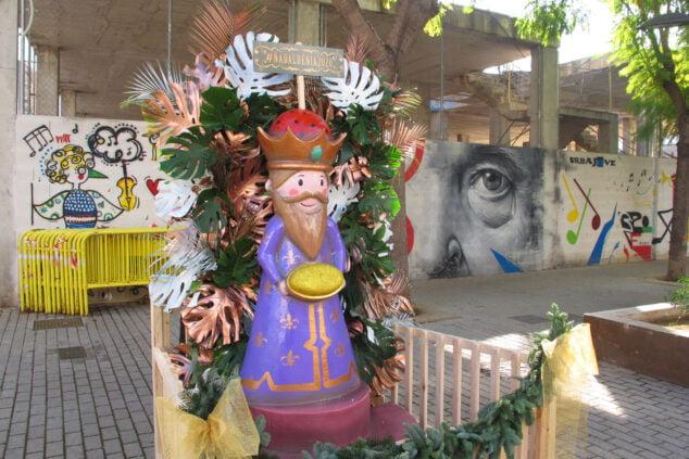 Imagen: Un rey mago es el monumento de Calle La Vía