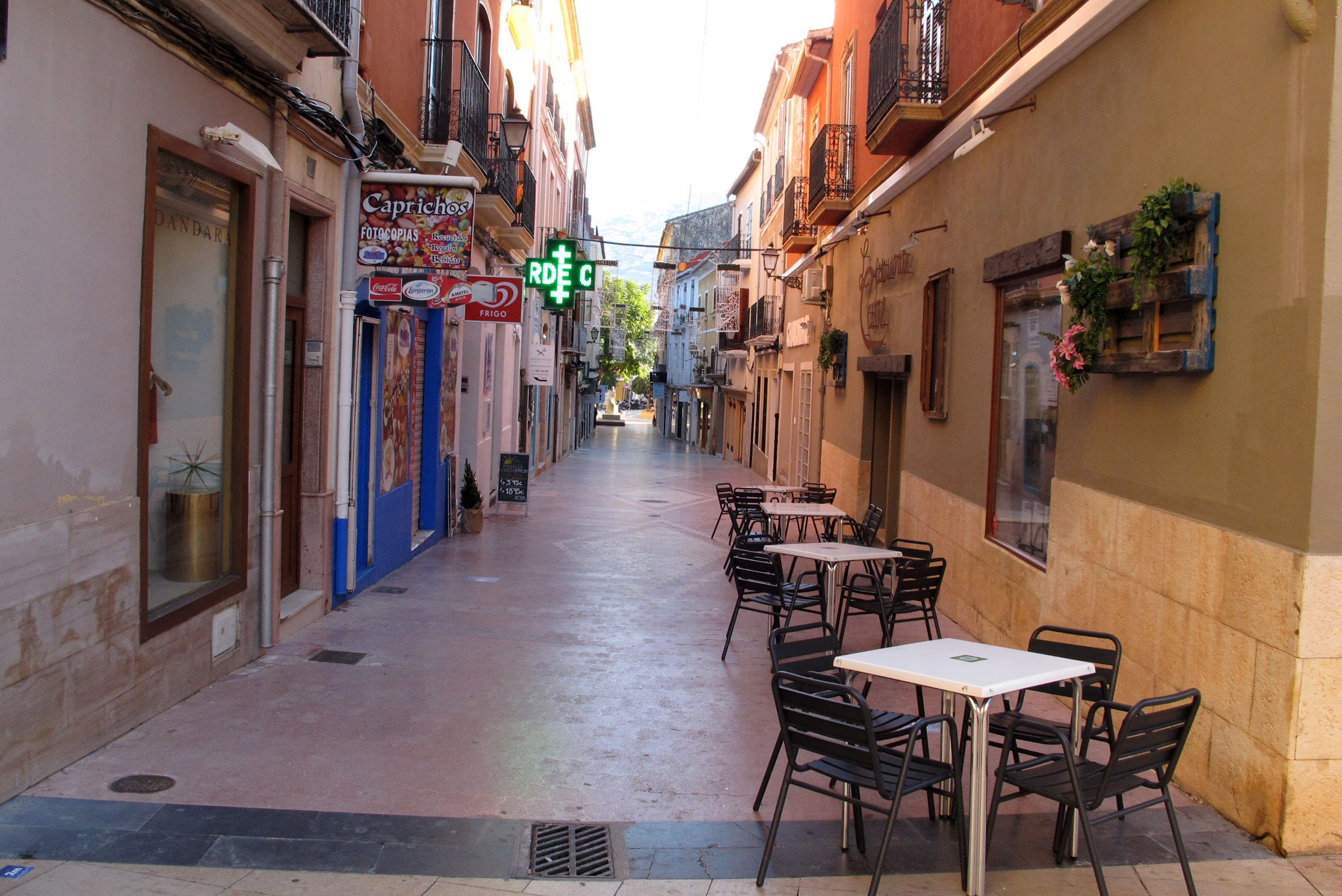 Calle Loreto en diciembre de 2020