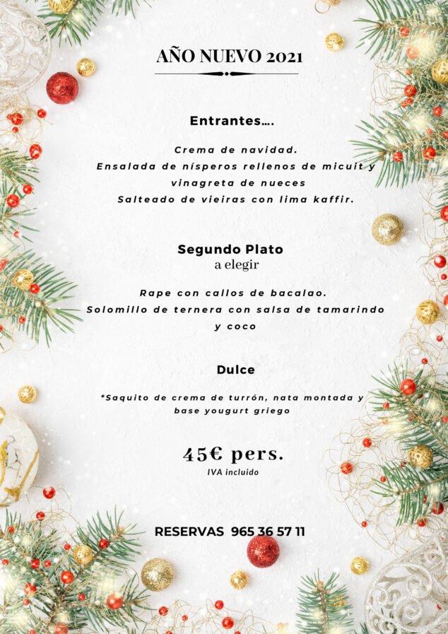 Imagen: Menú de Año Nuevo en Dénia - La Chula de Cavallers