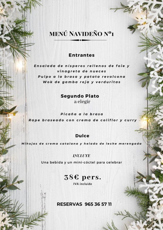 Imagen: Menú de Navidad número 1 en La Chula de Cavallers