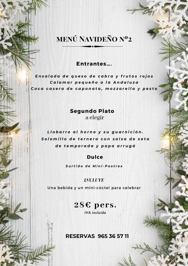 Imagen: Menú de Navidad número 2 en La Chula de Cavallers