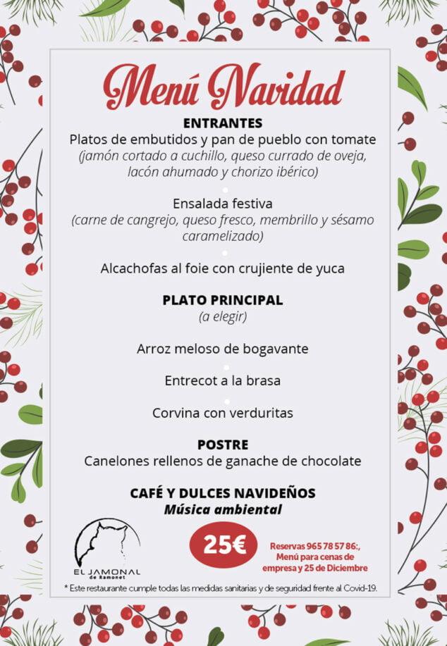 Imagen: Menú de Navidad de El Jamonal de Ramonet