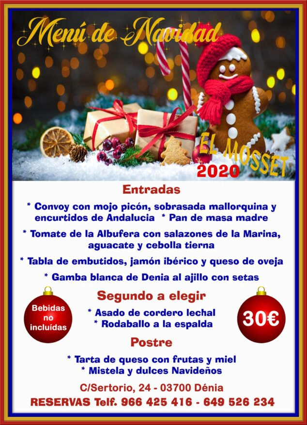 Image: Christmas menu in Dénia - El Mosset