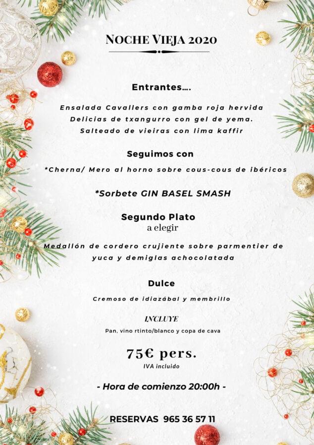 Imagen: Menú de Nochevieja en Dénia - La Chula de Cavallers