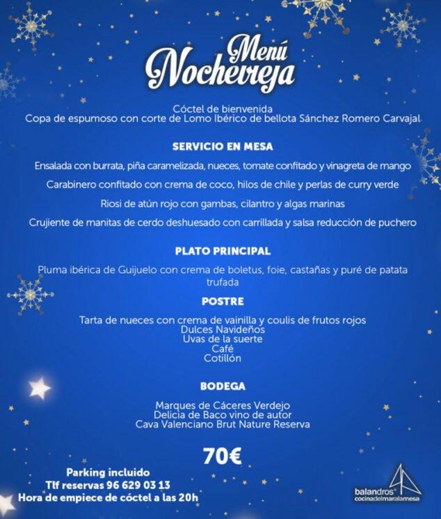 Imagen: Menú de Nochevieja en Dénia - Restaurante Balandros