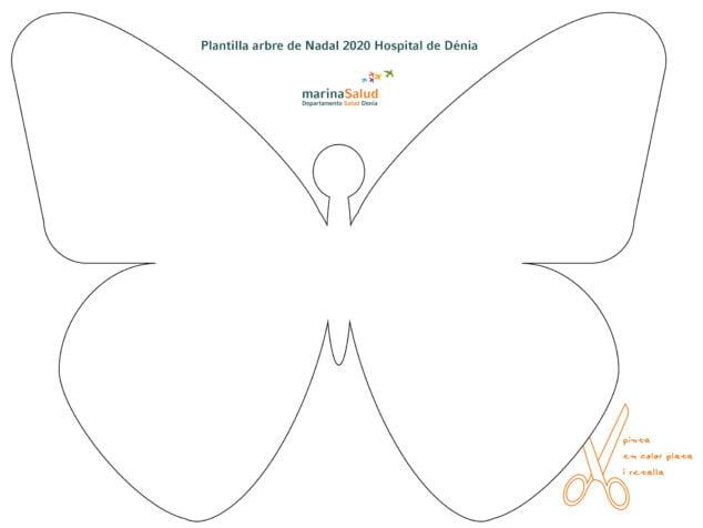 Imagen: Plantilla de las mariposas para el árbol del Hospital de Dénia