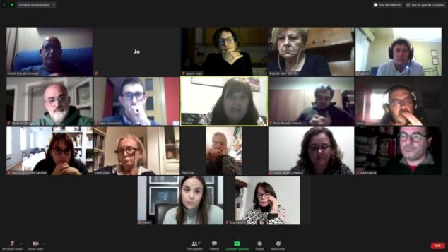 Afbeelding: Vergadering van het bestuur van de PSPV