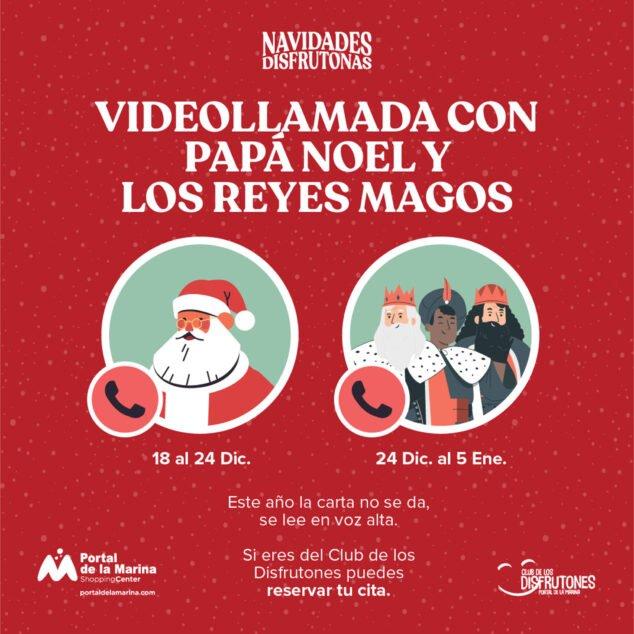 Imagen: Videollamada con Papá Noel y los Reyes Magos - Portal de la Marina