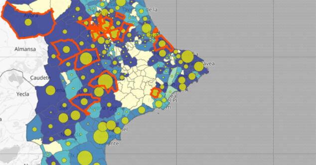 Imagen: Actualización de coronavirus por municipio del 8 de enero