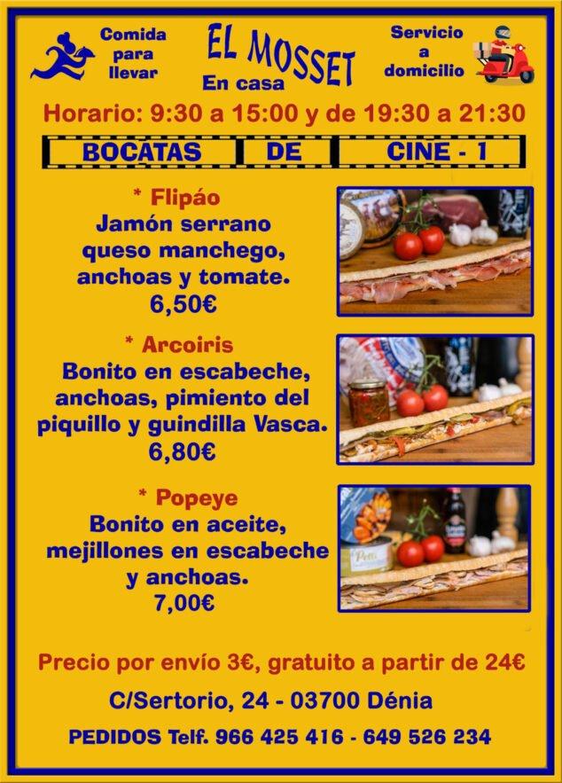 Image: Sandwichs à emporter et à la maison à Dénia (Cinema Sandwiches 1) - El Mosset