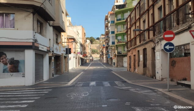 Image: Calle Diana deserted during home confinement