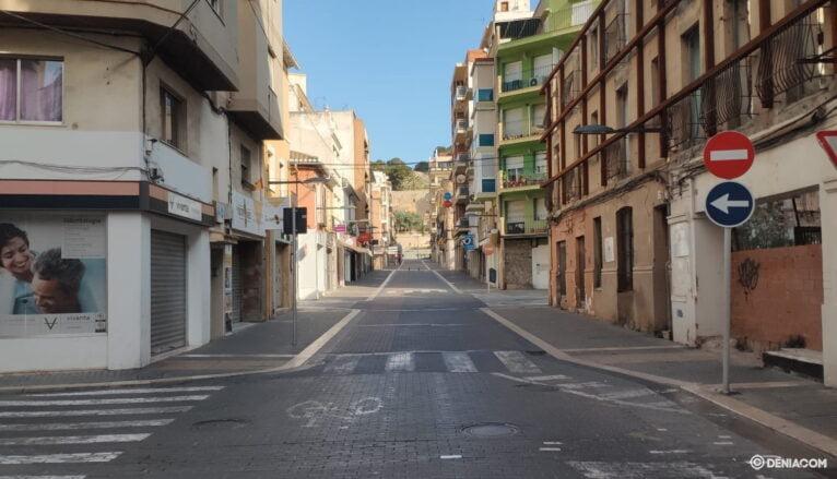Улица Дианы заброшена во время заключения