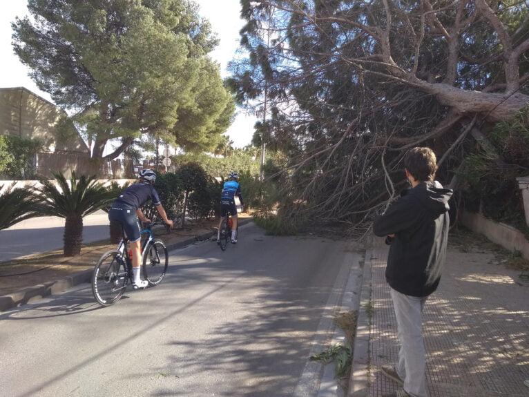 Route vers Xàbia coupée par le vent