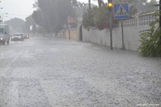 Image: Route des Marins lors d'une tempête pluvieuse