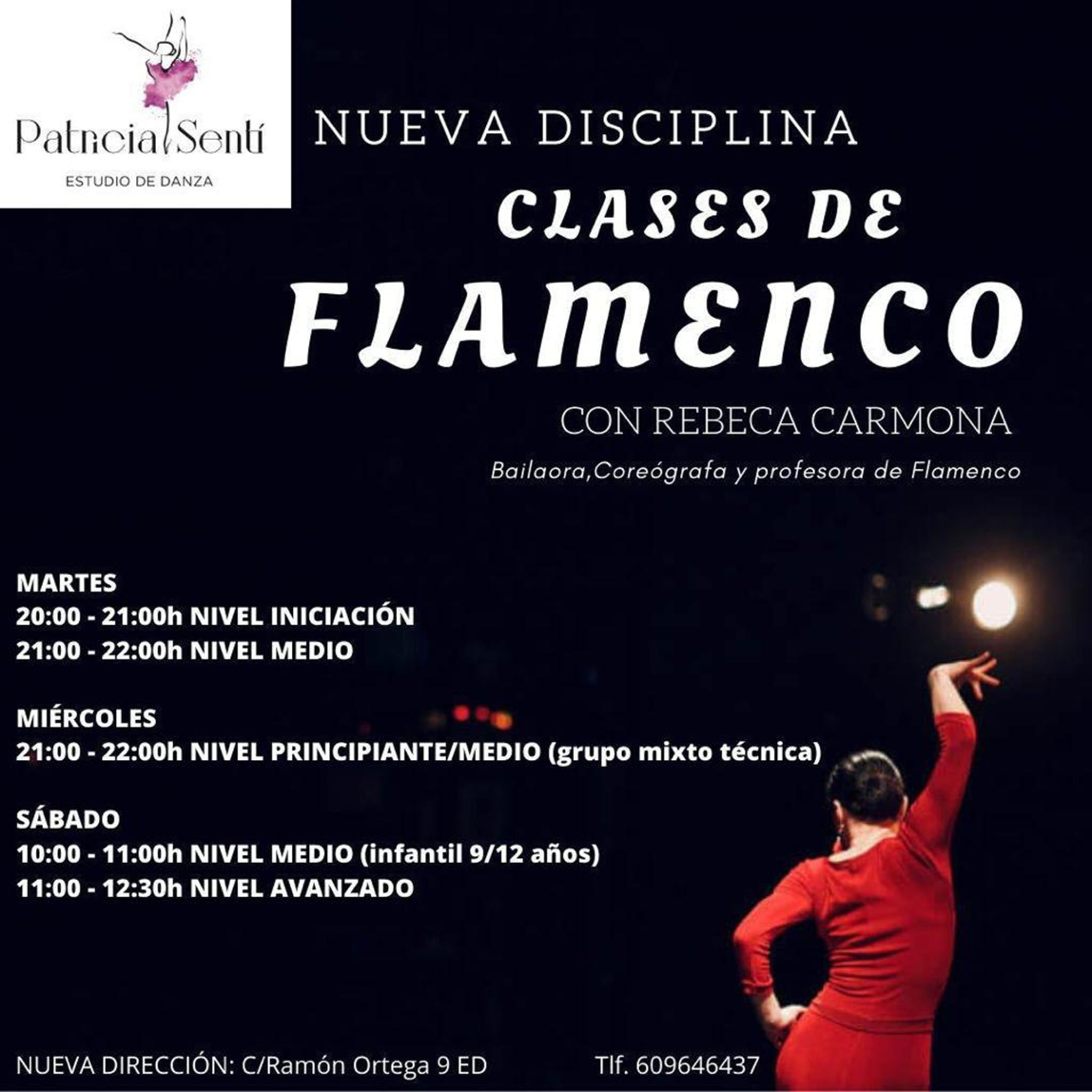 Flamenco classes in Dénia - Patricia Sentí Dance Studio