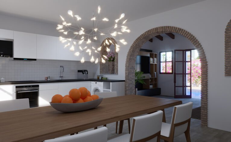 Kitchen of a villa for sale in Las Marinas in Dénia - Lucas Graf Projects