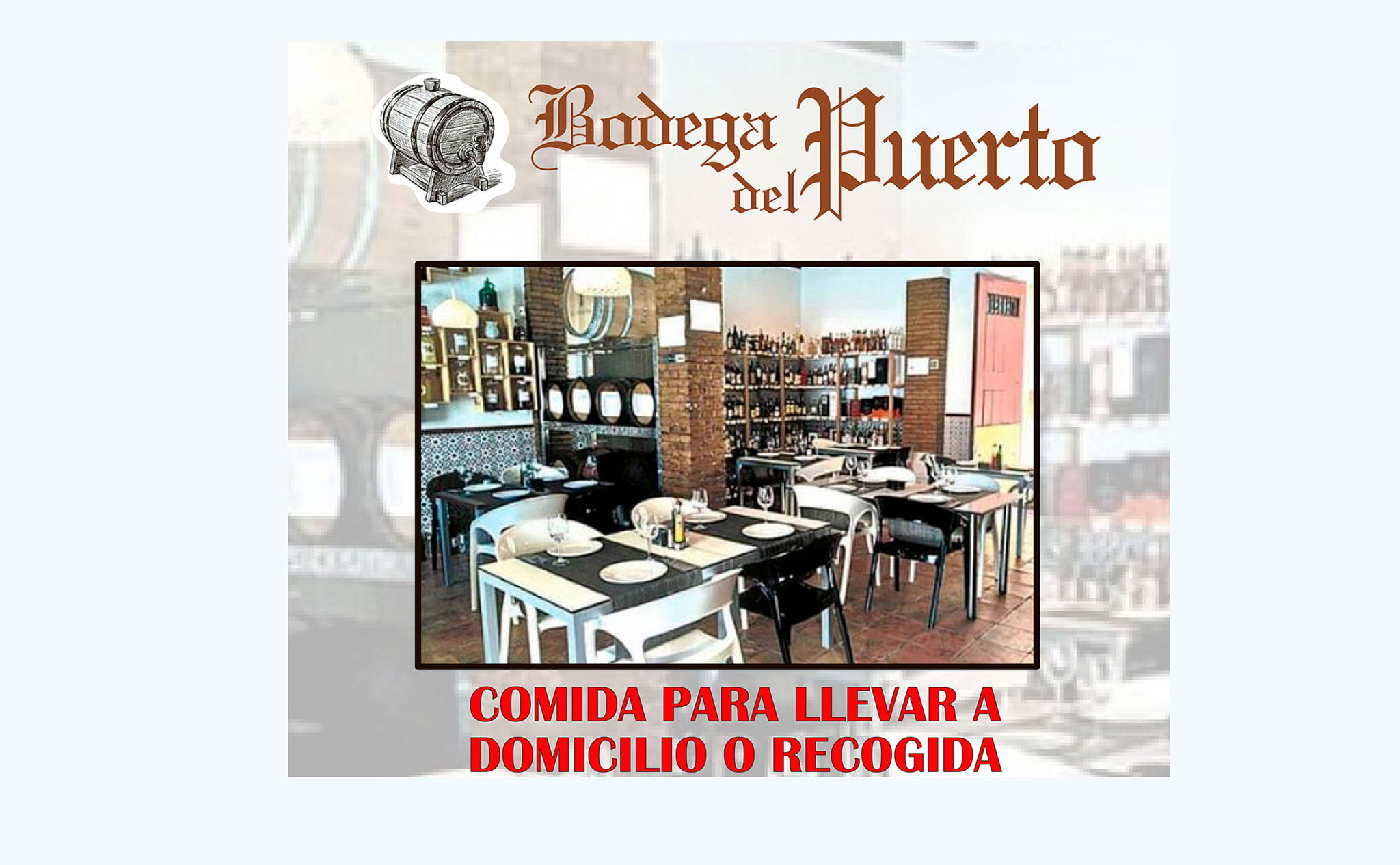 Plats à emporter et livraison à domicile à Dénia - Bodega del Puerto