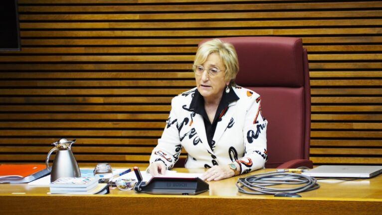 Appearance of Ana Barceló, Minister of Health