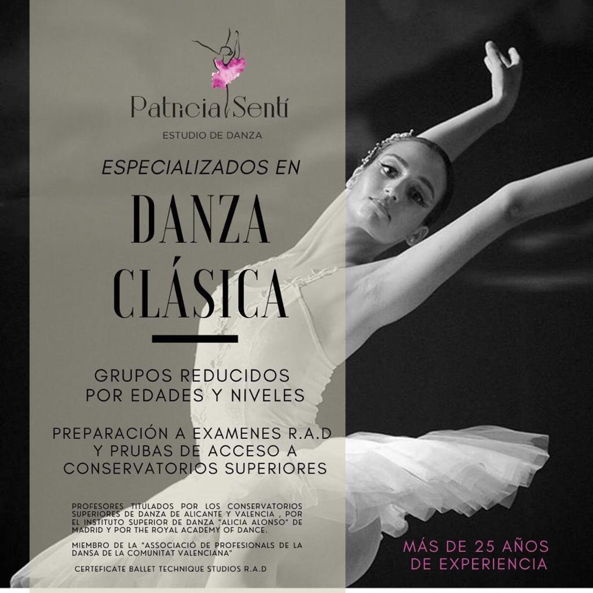 Classical dance classes in Dénia - Patricia Sentí Dance Studio