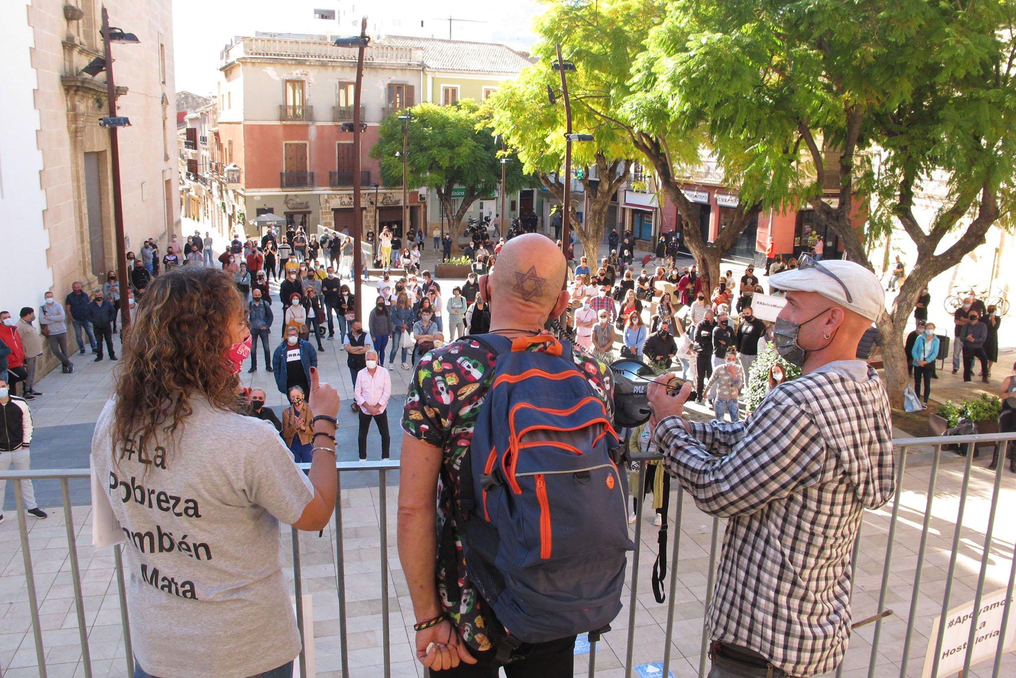 Discours lors de la manifestation