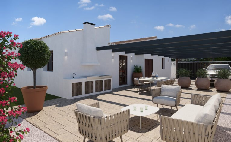 Garage of a villa for sale in Las Marinas in Dénia - Lucas Graf Projects