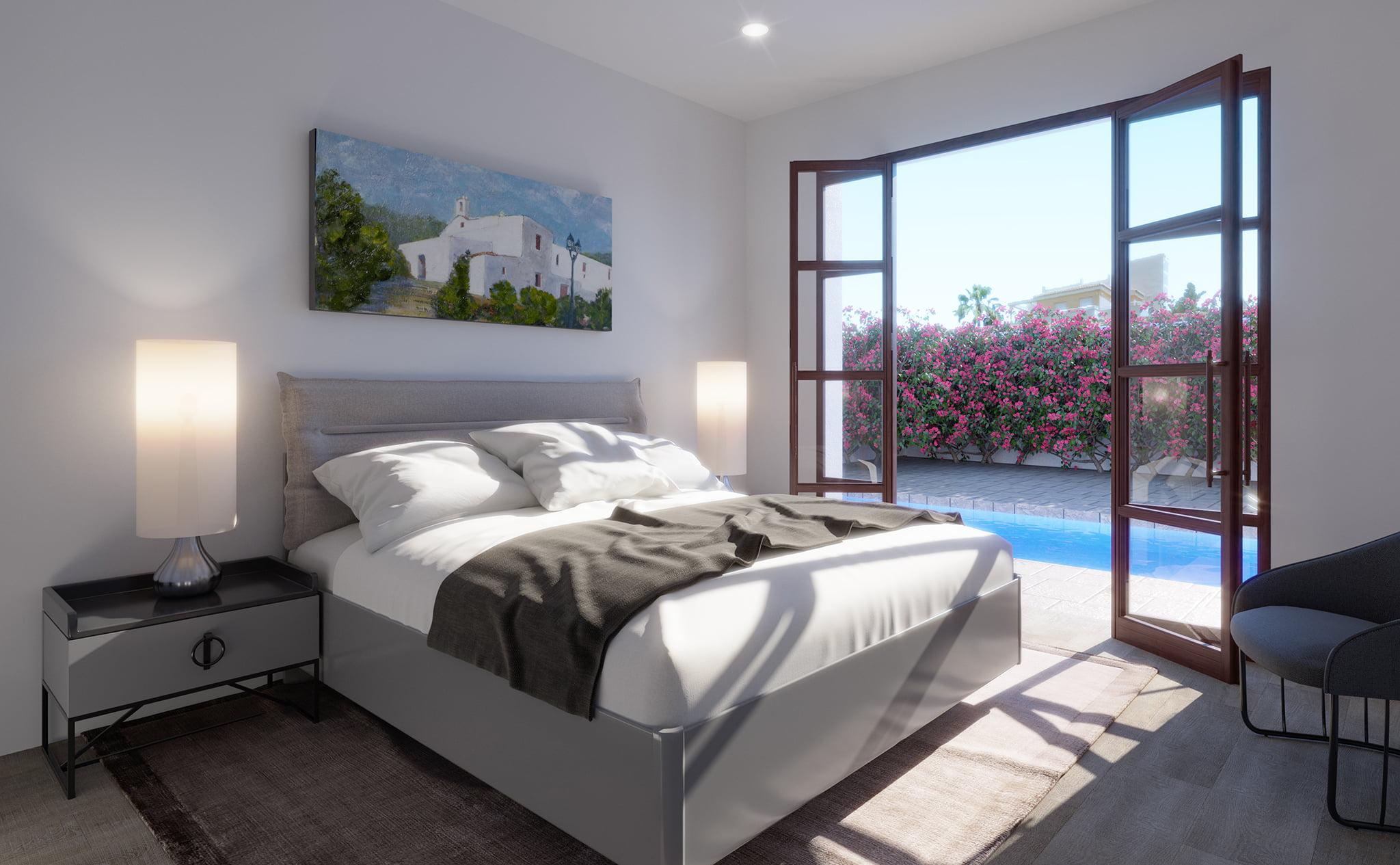 Chambre d'une villa à vendre à Las Marinas à Dénia - Lucas Graf Projects