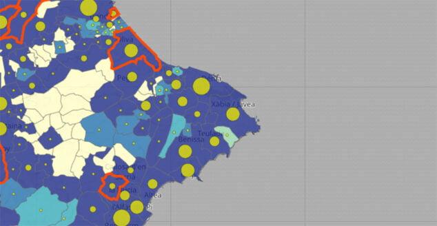 Image: Incidence du coronavirus dans la Marina Alta de la mise à jour du 15 janvier