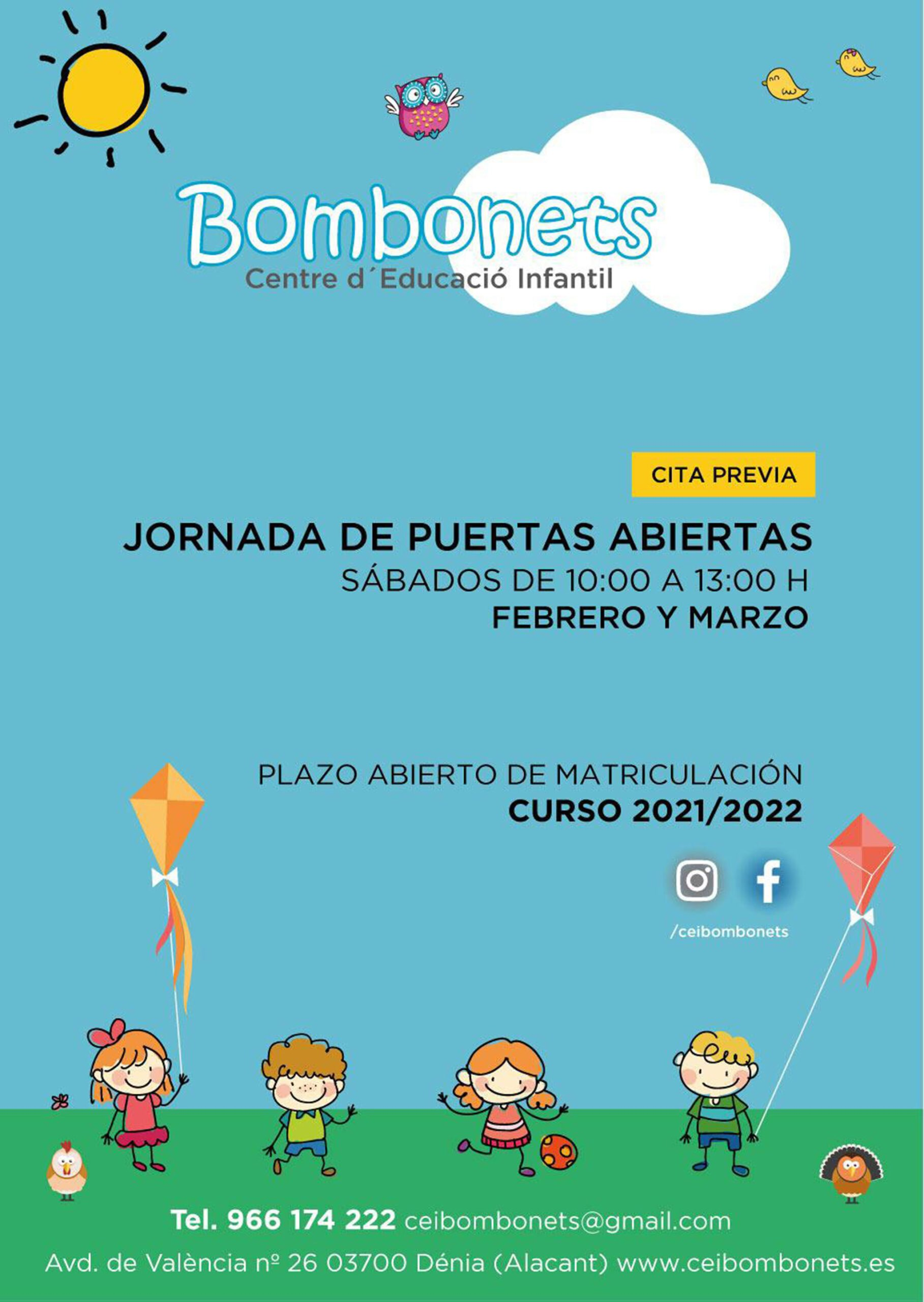Open day at the Dénia Bombonets early childhood education center