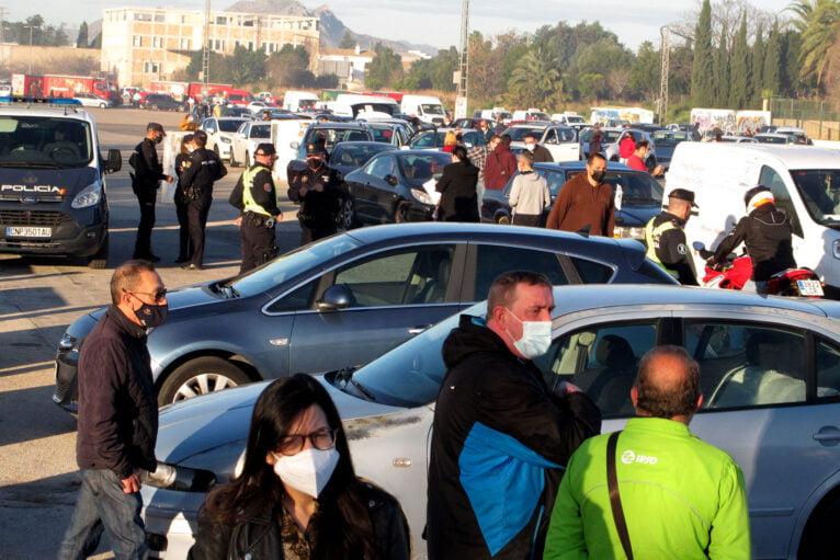 Démonstration de voitures à Dénia de la Hostelería 02