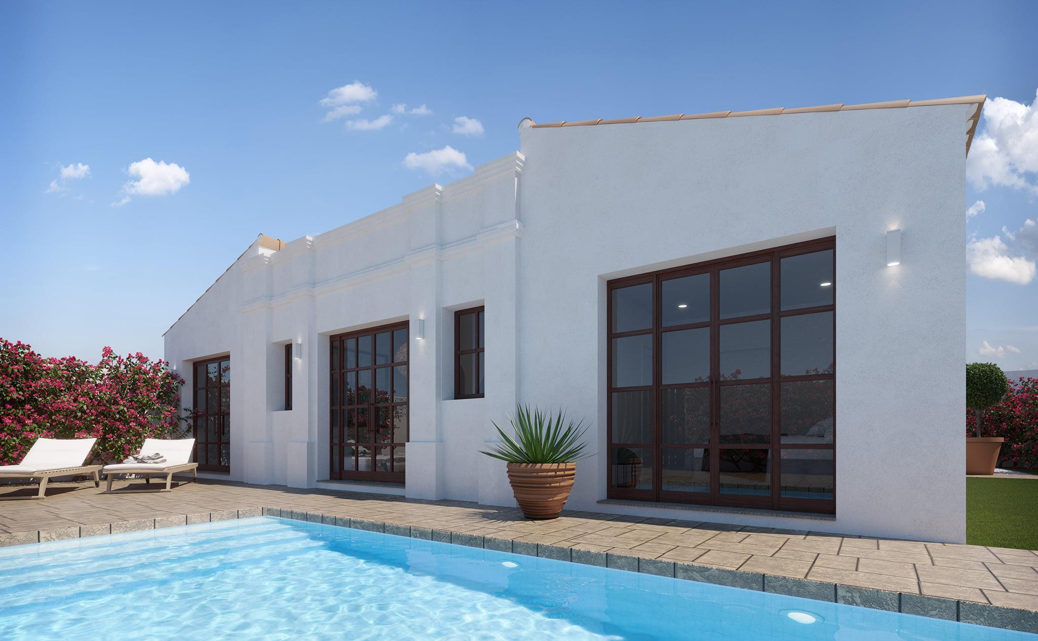 Piscine d'une villa à vendre à Las Marinas à Dénia - Lucas Graf Projects