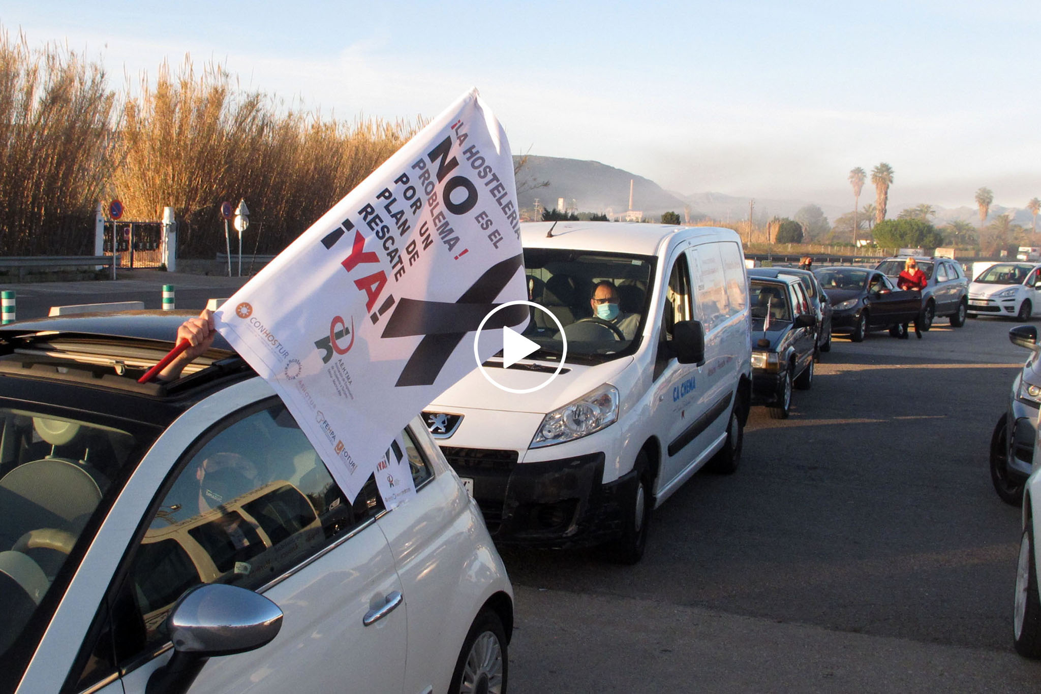 Play car demonstration in Dénia of the hospitality industry