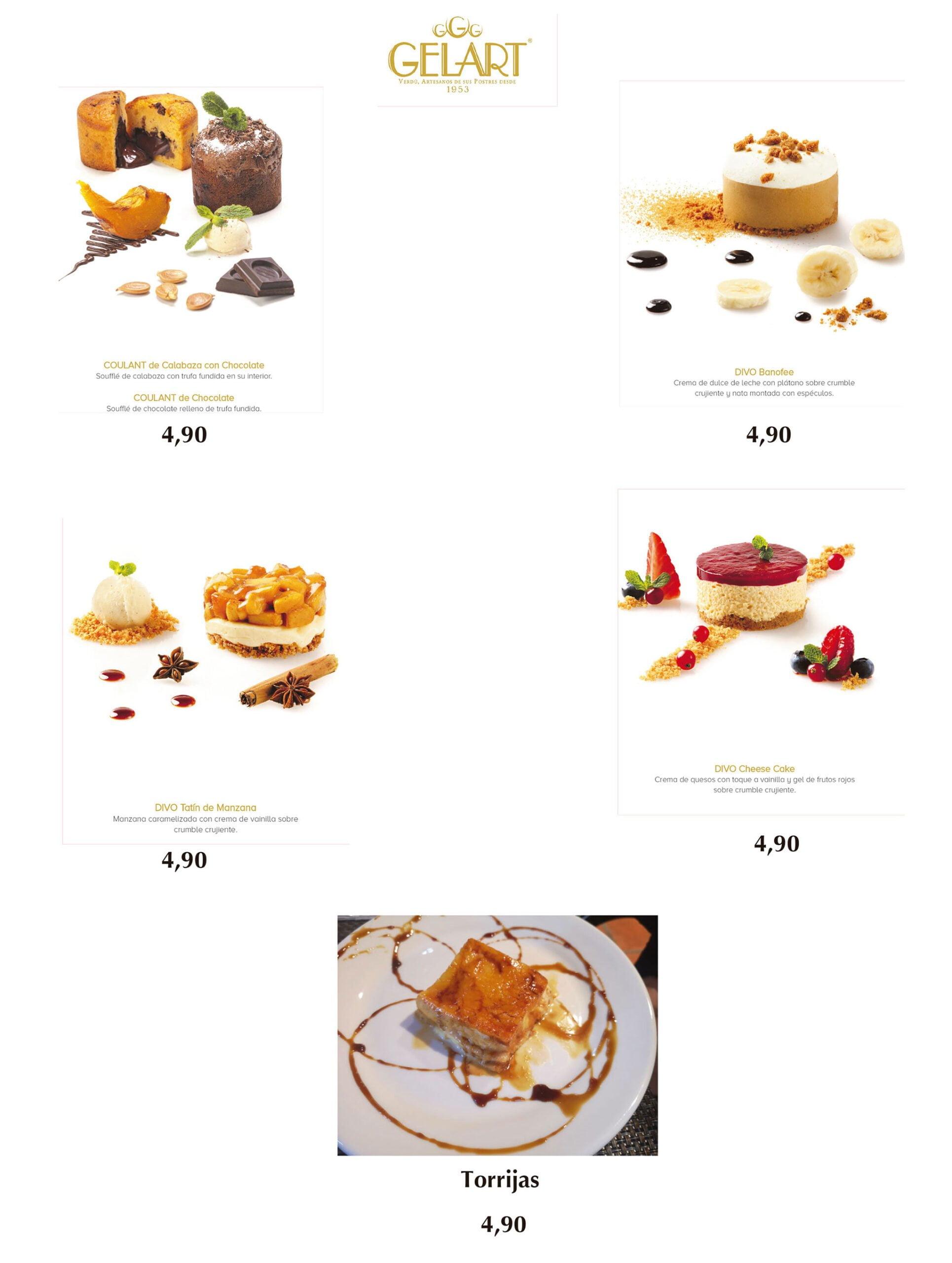 Desserts à emporter et à la maison à Dénia - Bodega del Puerto