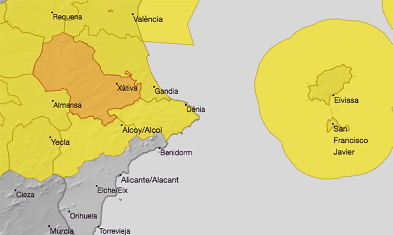 Prediction of the AEMET for this Saturday