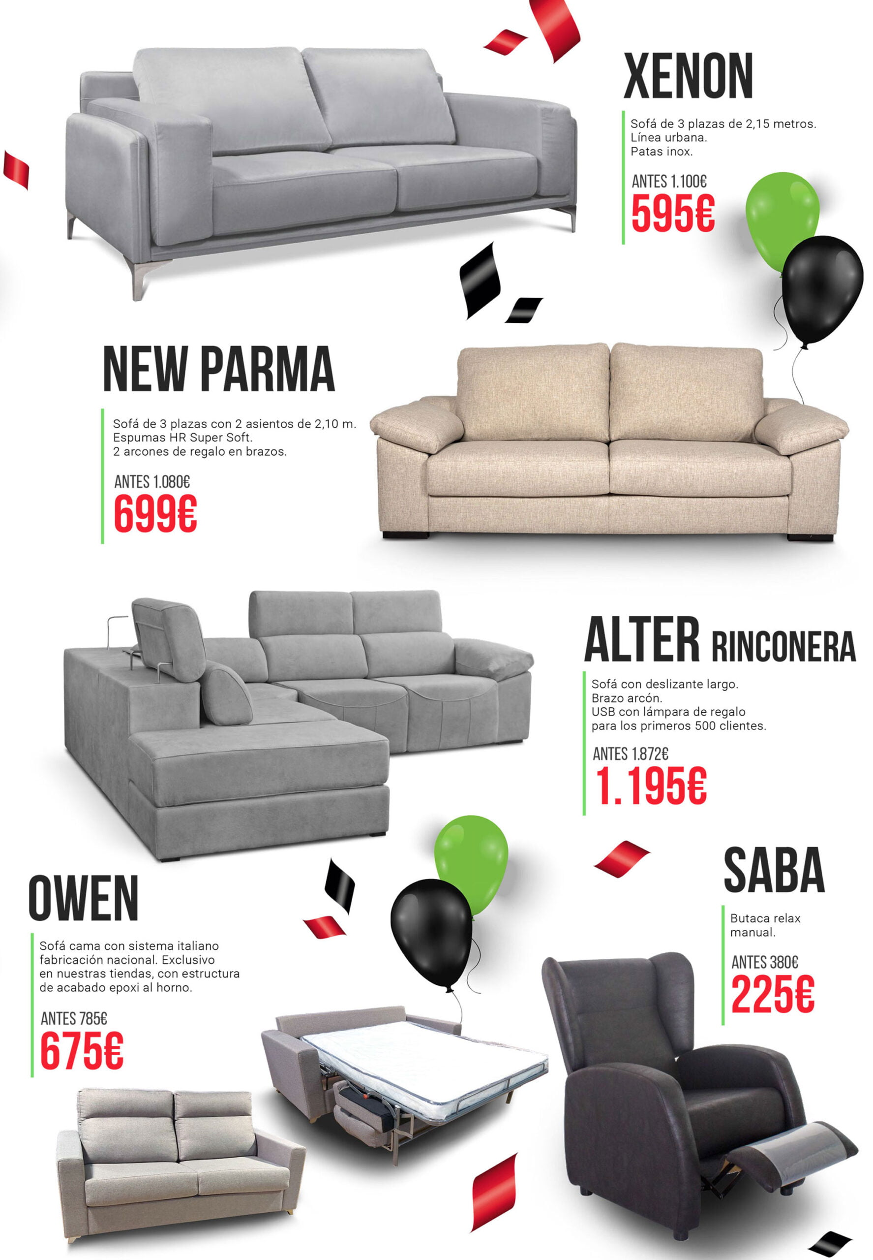 Discounts of OK Sofas in Dénia