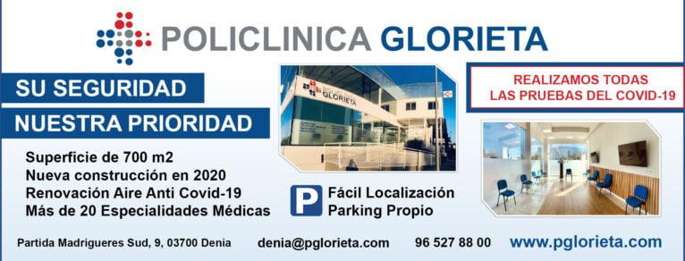 Anti-Covid 19 security at Glorieta Polyclinic