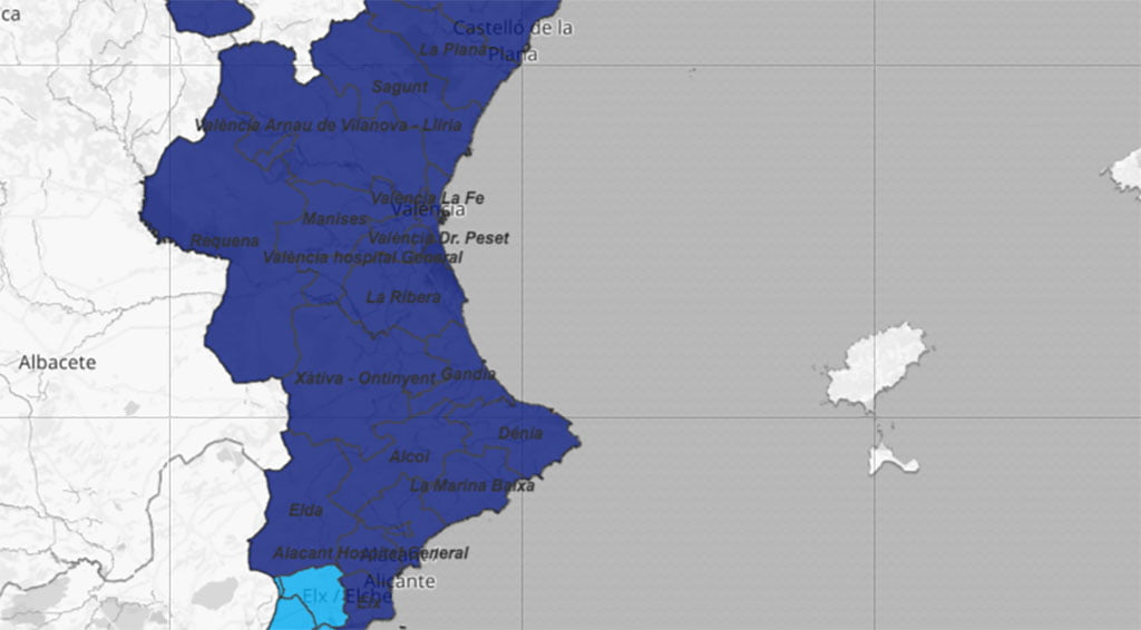 Current situation of the coronavirus by department