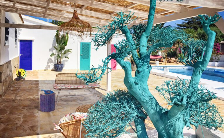 Covered terrace in a luxury vacation home in Dénia - Quality Rent a Villa