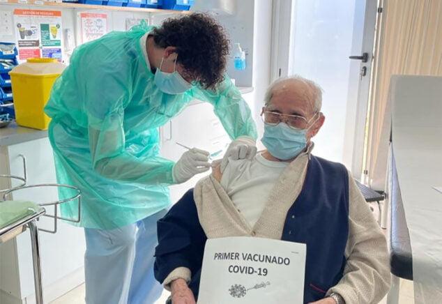Image: Andrés García Crespo, d'abord vacciné